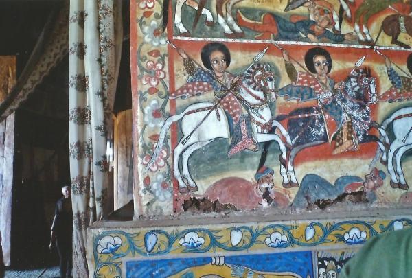 Freske na zidovima crkava na Jezeru Tana izrađene prirodnim bojama