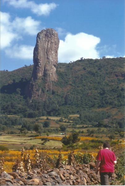 Interesantne vulkanske stijene na putu prema Gondaru