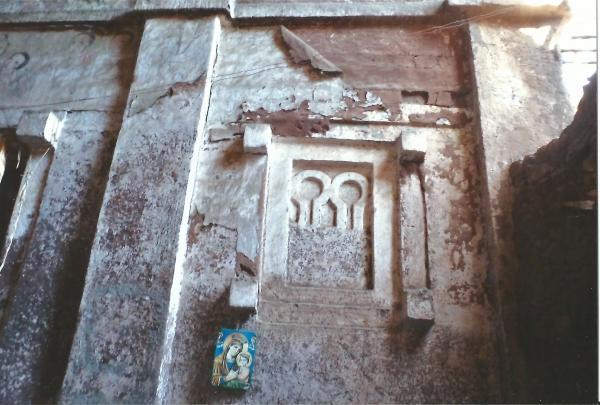 Lalibela - jedna od crkava izgrađena od jednog vulkanskog kamena