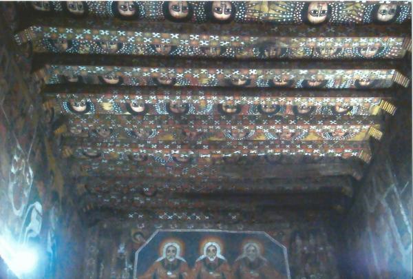 Svod crkve Deberberham Selasije sa freskama 144 anđela