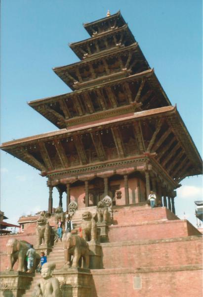 Baktapur-najviši hram od 5 katova (Njatapura)