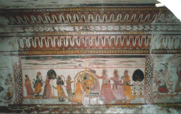 Freske iz 15. st. st. na zidovima palače  u Orchi