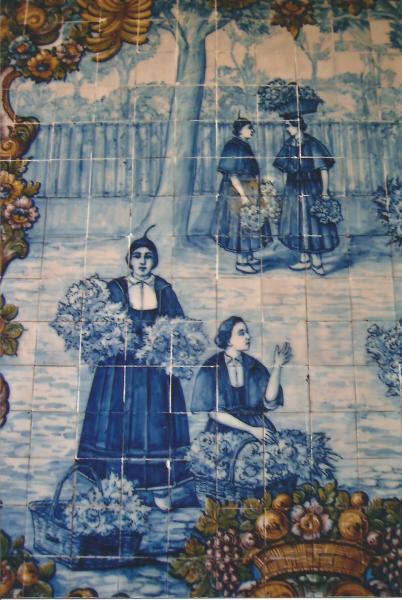 Funschal-kermičke pločice sa slikama na ulazu u tržnicu