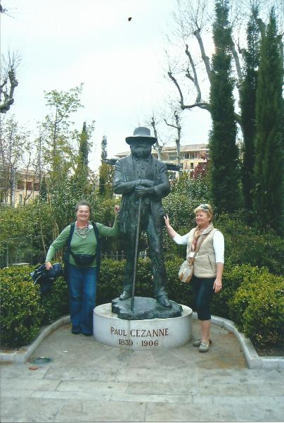 Provansa-ispred spomenika P.Cezzanu