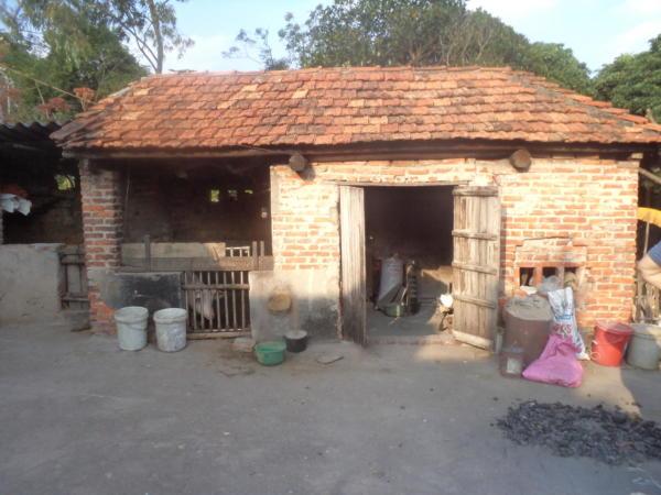Kuhinja i staja u dvorištu.
