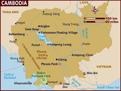 Mapa Kambođe